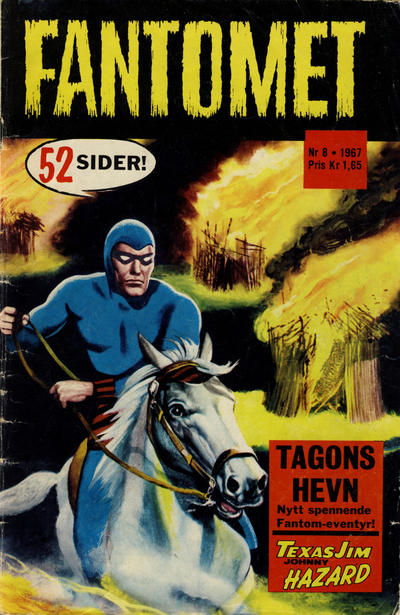 Cover for Fantomet (Romanforlaget, 1966 series) #8/1967