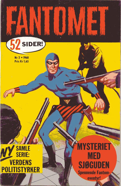 Cover for Fantomet (Romanforlaget, 1966 series) #2/1968