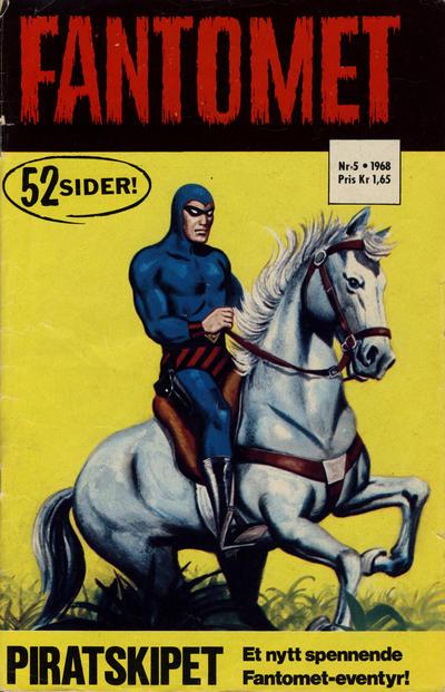 Cover for Fantomet (Romanforlaget, 1966 series) #5/1968
