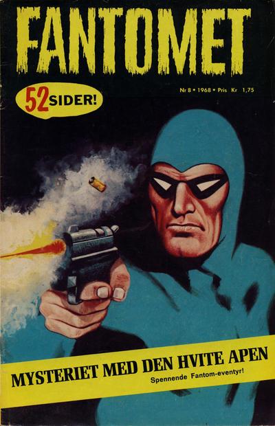 Cover for Fantomet (Romanforlaget, 1966 series) #8/1968