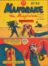 Cover for Mandrake the Magician (Feature Productions, 1950 ? series) #92