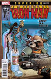 Cover for Superior Iron Man (Marvel, 2015 series) #1 [Rocket Raccoon and Groot Variant by Tom Fowler]