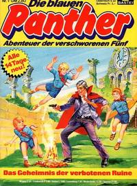 Cover Thumbnail for Die blauen Panther (Bastei Verlag, 1980 series) #1 - Das Geheimnis der verbotenen Ruine