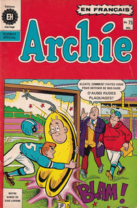 Cover Thumbnail for Archie (Editions Héritage, 1971 series) #75