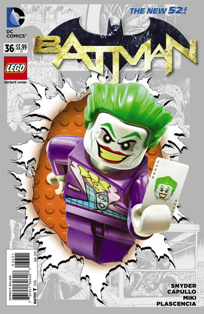Cover for Batman (DC, 2011 series) #36 [Lego Cover]