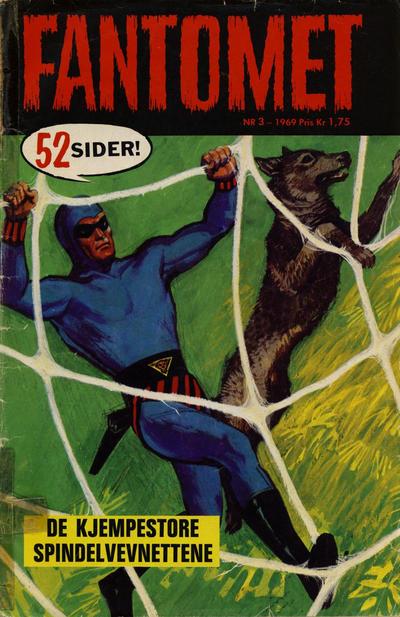 Cover for Fantomet (Romanforlaget, 1966 series) #3/1969