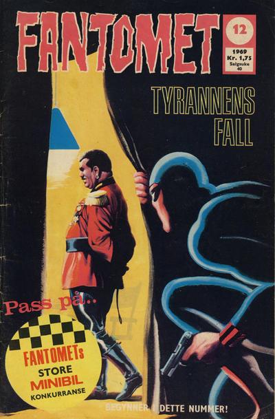 Cover for Fantomet (Romanforlaget, 1966 series) #12/1969