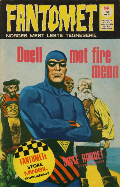 Cover for Fantomet (Romanforlaget, 1966 series) #14/1969