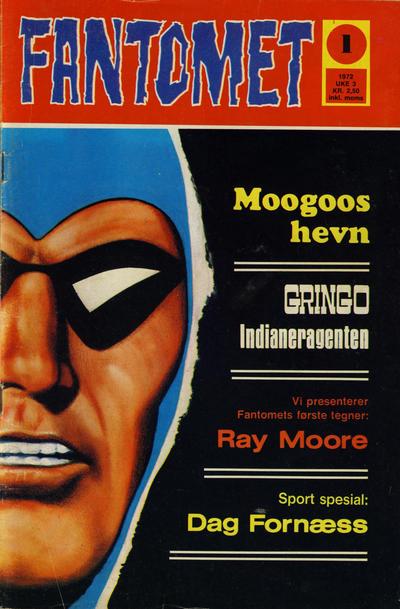 Cover for Fantomet (Romanforlaget, 1966 series) #1/1972
