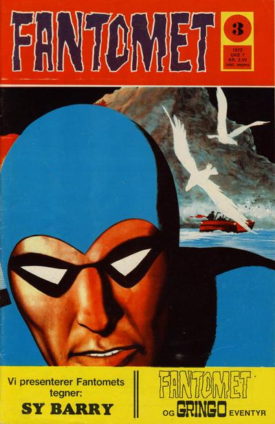 Cover for Fantomet (Romanforlaget, 1966 series) #3/1972