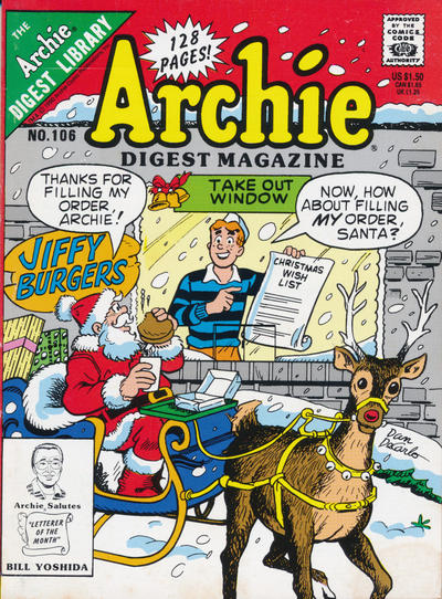 Cover for Archie Comics Digest (Archie, 1973 series) #106
