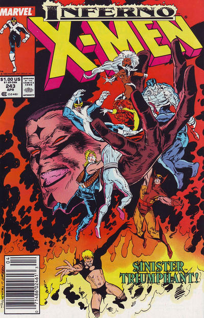 Cover for The Uncanny X-Men (Marvel, 1981 series) #243 [Newsstand]