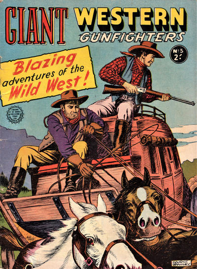 Cover for Giant Western Gunfighters (Horwitz, 1962 series) #5