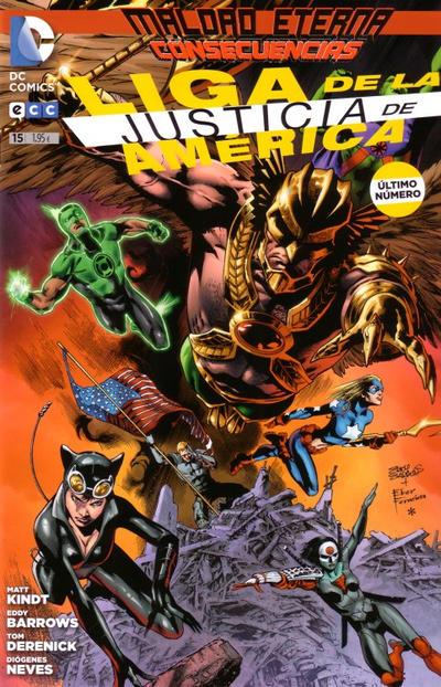 Cover for Liga de la Justicia de América (ECC Ediciones, 2013 series) #15