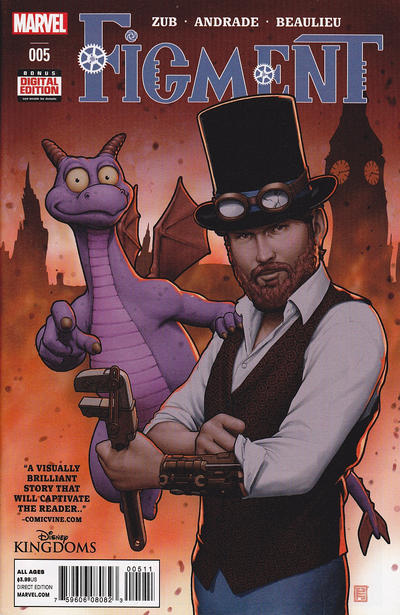 Cover for Disney Kingdoms: Figment (Marvel, 2014 series) #5 [2nd Printing]