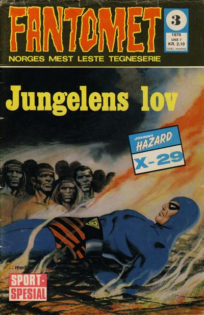 Cover for Fantomet (Romanforlaget, 1966 series) #3/1970