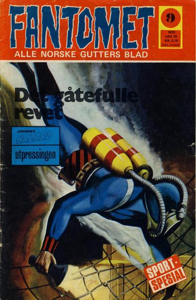 Cover for Fantomet (Romanforlaget, 1966 series) #9/1970