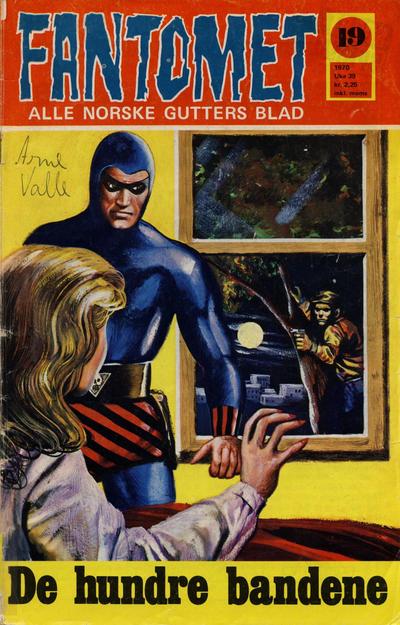 Cover for Fantomet (Romanforlaget, 1966 series) #19/1970