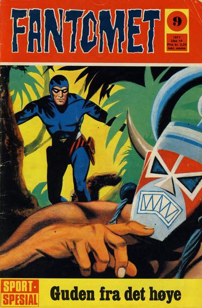 Cover for Fantomet (Romanforlaget, 1966 series) #9/1971