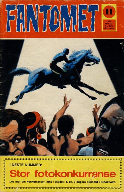 Cover for Fantomet (Romanforlaget, 1966 series) #11/1971