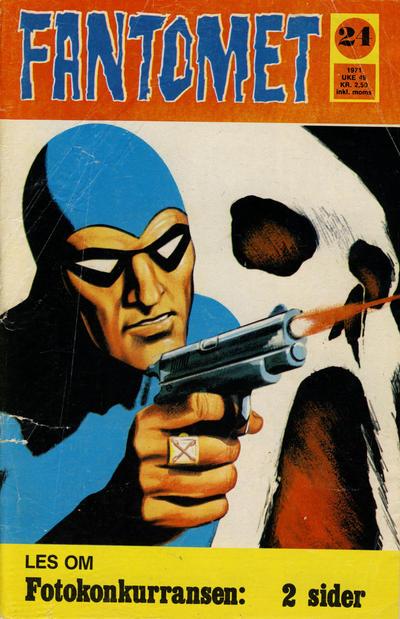 Cover for Fantomet (Romanforlaget, 1966 series) #24/1971