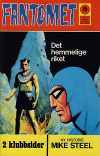 Cover for Fantomet (Romanforlaget, 1966 series) #9/1972