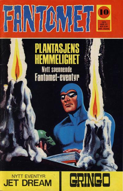 Cover for Fantomet (Romanforlaget, 1966 series) #10/1972