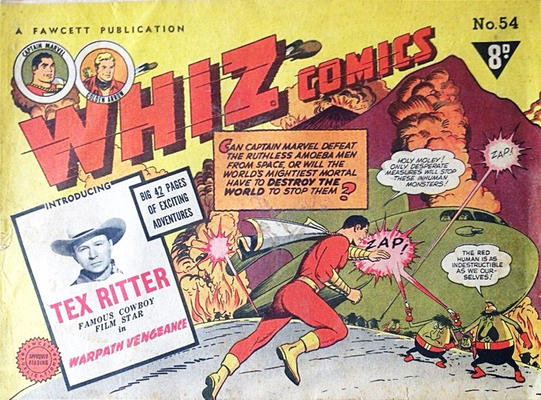 Cover for Whiz Comics (Cleland, 1946 series) #54