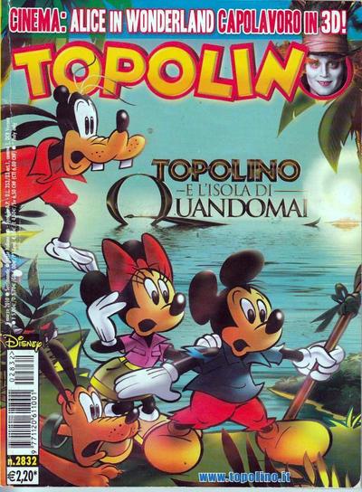 Cover for Topolino (The Walt Disney Company Italia, 1988 series) #2832