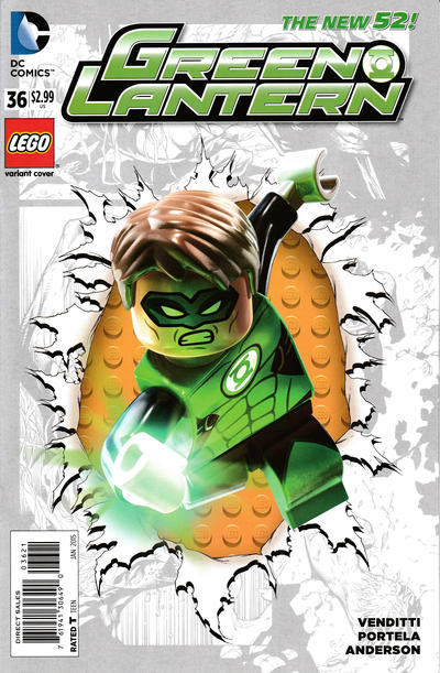 Cover for Green Lantern (DC, 2011 series) #36 [Lego Variant Cover]