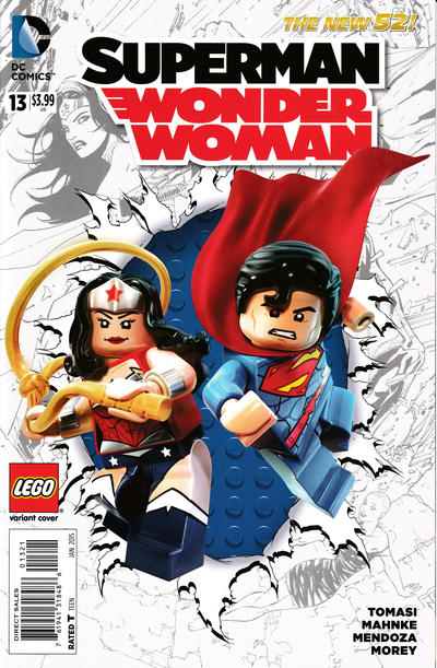 Cover for Superman / Wonder Woman (DC, 2013 series) #13 [Combo Pack]