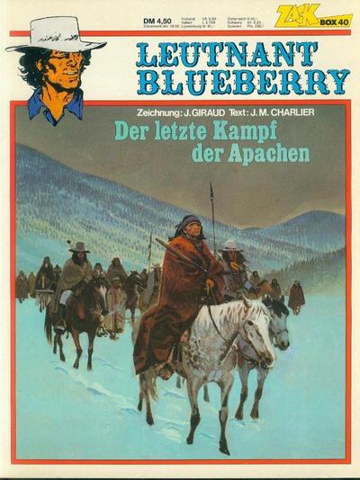 Cover for Zack Comic Box (Koralle, 1972 series) #40 - Leutnant Blueberry - Der letzte Kampf der Apachen
