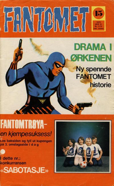 Cover for Fantomet (Romanforlaget, 1966 series) #15/1972