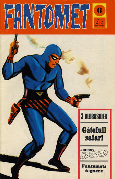 Cover for Fantomet (Romanforlaget, 1966 series) #6/1972