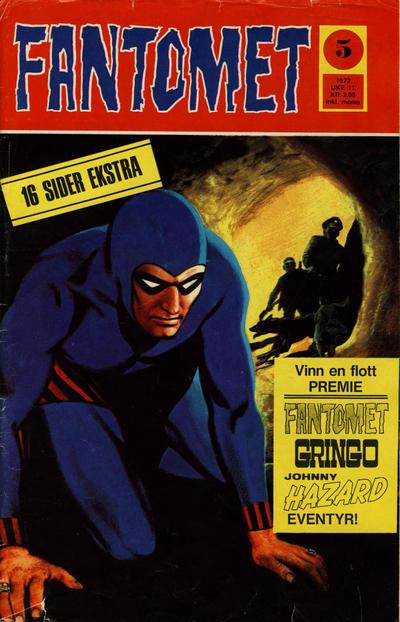 Cover for Fantomet (Romanforlaget, 1966 series) #5/1972