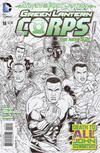 Cover for Green Lantern Corps (DC, 2011 series) #18 [Juan Jose Ryp Black & White Cover]