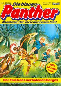 Cover Thumbnail for Die blauen Panther (Bastei Verlag, 1980 series) #7 - Der Fluch des verbotenen Berges