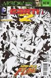 Cover for Earth 2 (DC, 2012 series) #9 [Nicola Scott / Trevor Scott Black & White Cover]