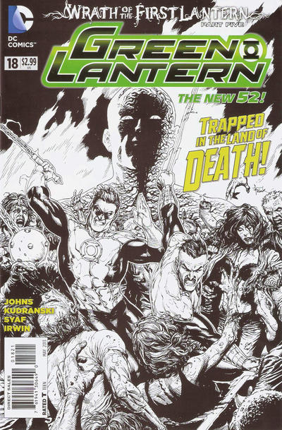 Cover for Green Lantern (DC, 2011 series) #18 [Gary Frank Black & White Cover]