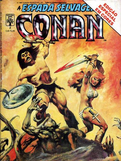 Cover for Espada Selvagem de Conan em Cores (Editora Abril, 1987 series) #2