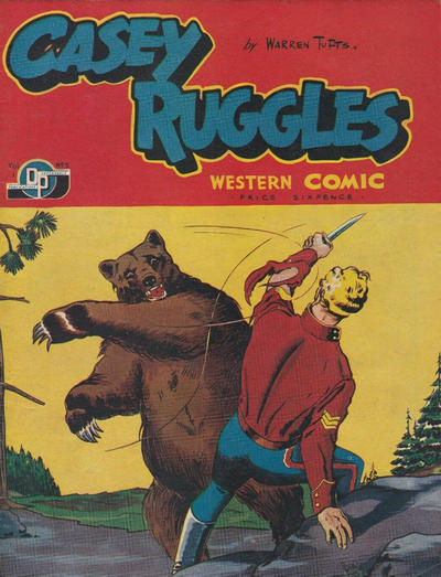 Cover for Casey Ruggles Western Comic (Donald F. Peters, 1951 series) #5