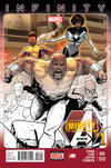 Cover for Mighty Avengers (Marvel, 2013 series) #1 [Retailer Incentive Color Fade Variant by Greg Land]