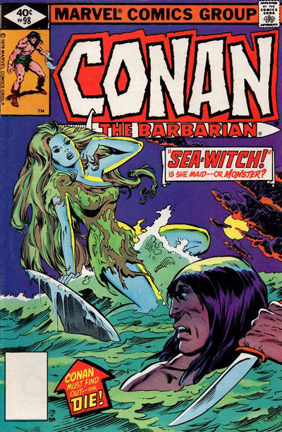 Cover for Conan the Barbarian (Marvel, 1970 series) #98 [Direct Edition]
