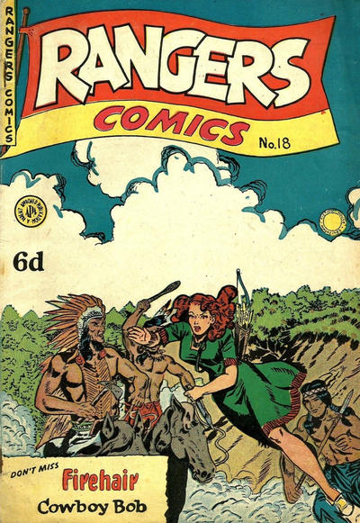 Cover for Rangers Comics (H. John Edwards, 1950 ? series) #18