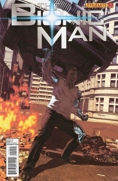 Cover for Bionic Man (Dynamite Entertainment, 2011 series) #19 [Cover A - Mike Mayhew]