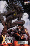 Cover for Uncanny X-Men (Marvel, 2013 series) #23 [Rocket Raccoon and Groot Variant by Arthur Adams]
