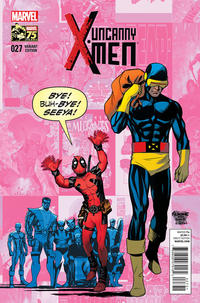 Cover Thumbnail for Uncanny X-Men (Marvel, 2013 series) #27 [Mike McKone Deadpool Photobomb Variant]