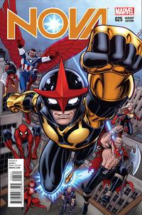 Cover Thumbnail for Nova (Marvel, 2013 series) #25 [Arthur Adams variant]