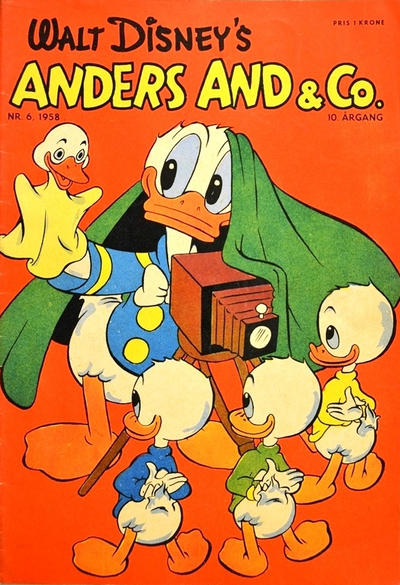 Cover for Anders And & Co. (Egmont, 1949 series) #6/1958