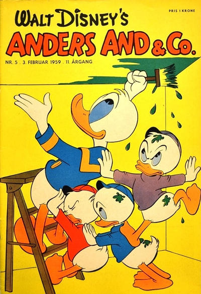 Cover for Anders And & Co. (Egmont, 1949 series) #5/1959